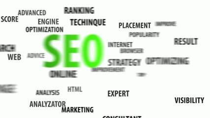SEO and related keywords on white