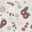 Vintage floral seamless background pattern