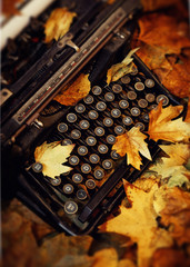 Dead leaves and typewriter