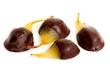 Pere candite al cioccolato fondente