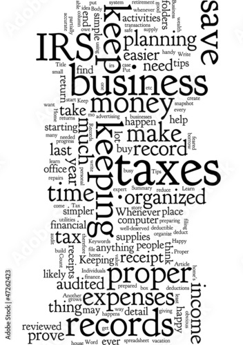3 Tips For Keeping Proper Tax Records For Your Home Business  An