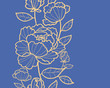 Vector royal flowers and leaves elegant vertical seamless