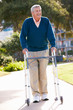 Senior Man With Walking Frame