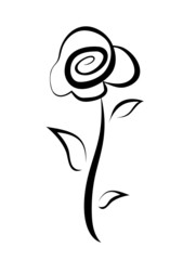 hand drawn rose symbol