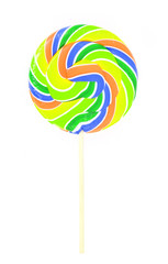 colored lollipop isolated on white