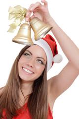 Weihnachtsfrau mit Glocke