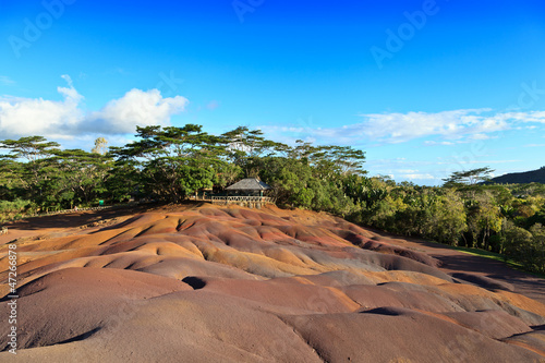 Chamarel seven colored earths in Mauritius - 47266878
