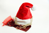 Santa Claus hat and bag