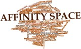 Word cloud for Affinity space