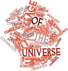 Word cloud for Age of the universe