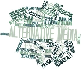 Word cloud for Alternative media