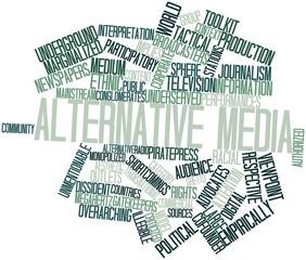 Word cloud for Alternative media