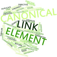 Word cloud for Canonical link element