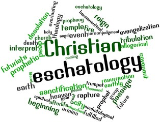 Word cloud for Christian eschatology