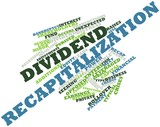 Word cloud for Dividend recapitalization poster