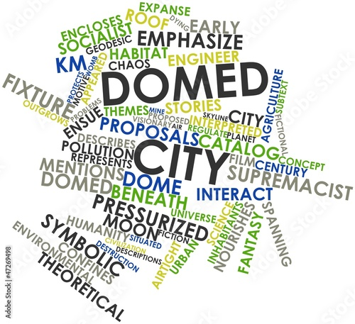 Word cloud for Domed city