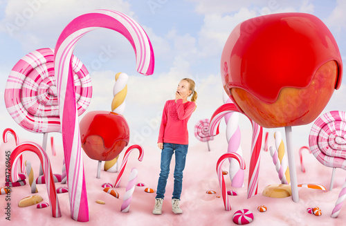 Girl in a Candy land