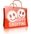 Shopping Bag Collection: HAPPY SHOPPING red