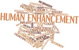 Word cloud for Human enhancement poster