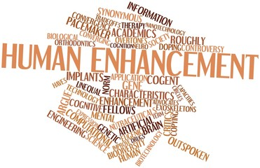 Word cloud for Human enhancement