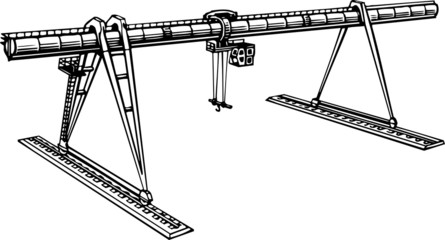 Heavy Duty Construction Crane
