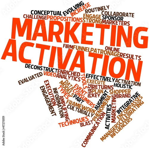 Word cloud for Marketing activation