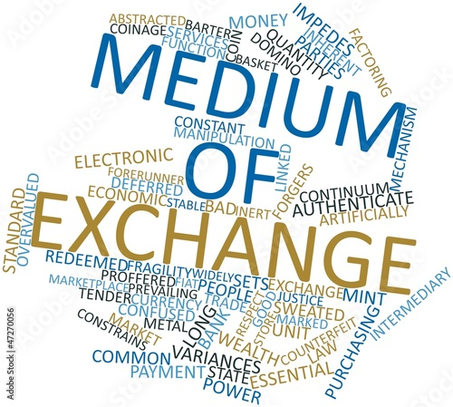 Word cloud for Medium of exchange