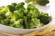 canvas print picture - Gedämpfter Broccoli