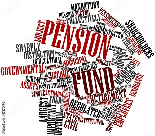 Word cloud for Pension fund