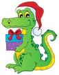 Christmas crocodile theme image 1