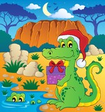 Christmas crocodile theme image 2
