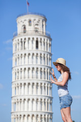Young Girl with Leaning Tower of Pisa
