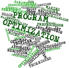Word cloud for Program optimization