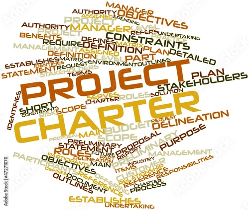 Word cloud for Project charter