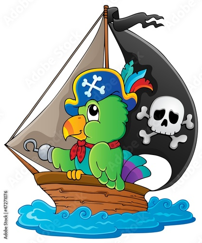 Image with pirate parrot theme 1