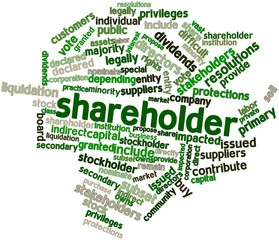 Word cloud for Shareholder
