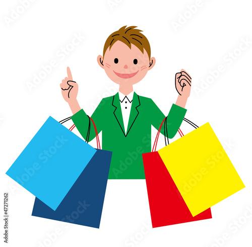 ショッピング 男性
