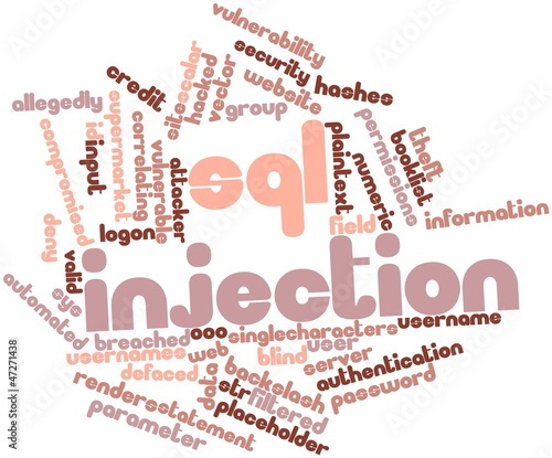 Word cloud for SQL injection
