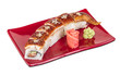 Japanese traditional Cuisine - Maki Roll with Cucumber , Cream C