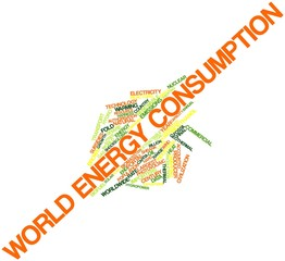 Word cloud for World energy consumption