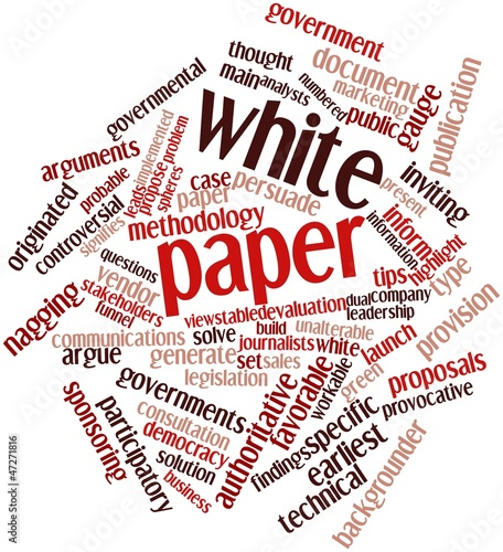 Word cloud for White paper