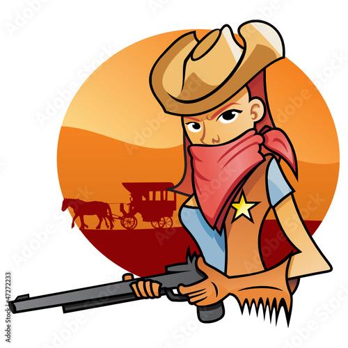 Portrait od Cowgirl