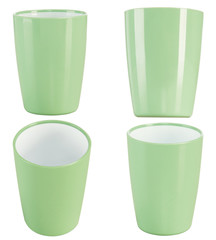 green plastic glass for juice