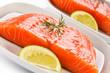 Fresh raw salmon fillet