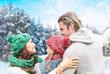 winterzeit familie
