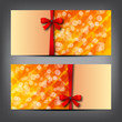 Elegant greeting cards with bows and copy space.