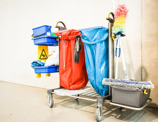 cleaning trolley - service cart