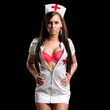 Very sexy woman in kinky nurse uniform
