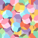 Vector background multi colored rhombus poster