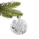 Fototapety 2013, branche de sapin et boule de Noël